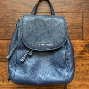 MICHAEL KORS navy leather backpack LIKE NEW